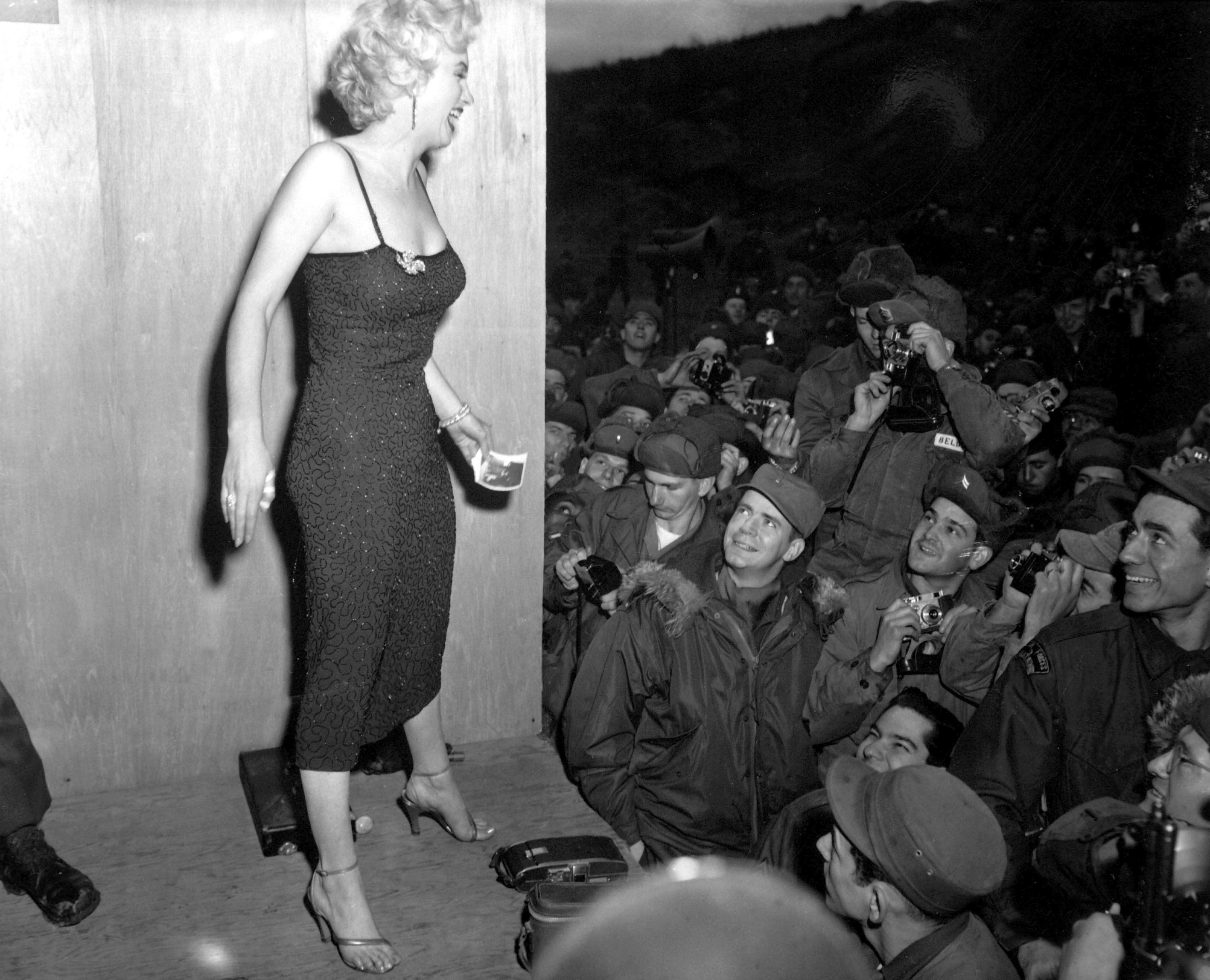 Marilyn Monroe Performing for the Troops